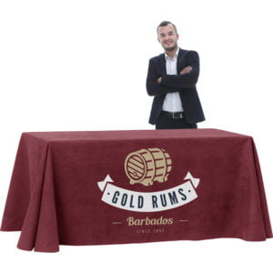 Economy Printed Tablecloth for 120cm table – Short Rear Drop