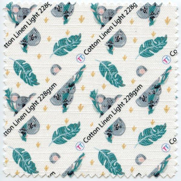 Lightweight Cotton Linen Printed Fabric