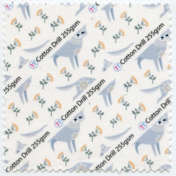 Cotton Drill Printed Fabric