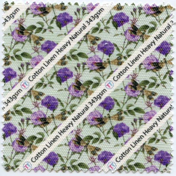 Cotton Linen Printed Fabric