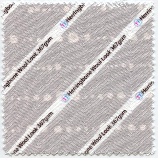 Herringbone Wool Look Printed Fabric