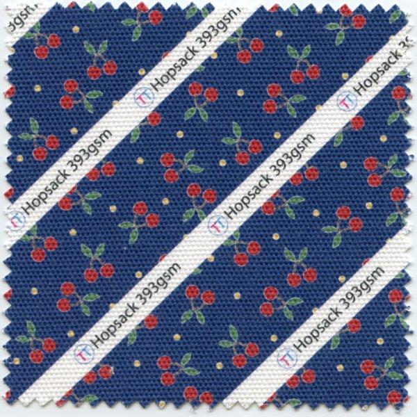 Hopsack Printed Fabric
