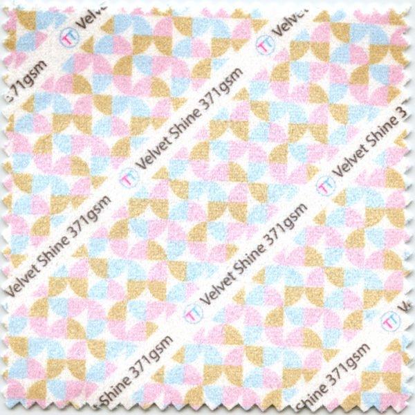 Velvet Shine Printed Fabric
